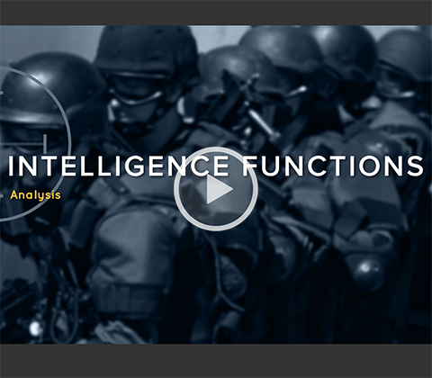 Intelligence Functions: Analysis. Click to play.