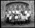 Monroe 1912 Choir Boys near Chapel