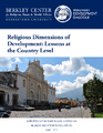 Cover for Religious Dimensions of Development: Lessons at the Country Level
