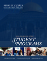 Cover for Student Programs 2015-2016 Annual Report