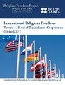 Cover for International Religious Freedom: Toward a Model of Transatlantic Cooperation