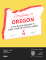 Cover for Certificates in Oregon: A Model for Workers to Jump-Stop or Reboot Careers