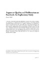 Cover for Argument Quality and Deliberation on Facebook: An Exploratory Study