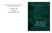 Cover for FEDERAL TECHNOLOGY TRANSFER AND THE HUMAN GENOME PROJECT: BACKGROUND PAPER