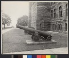 Cannon in front of Healy Hall at Georgetown University