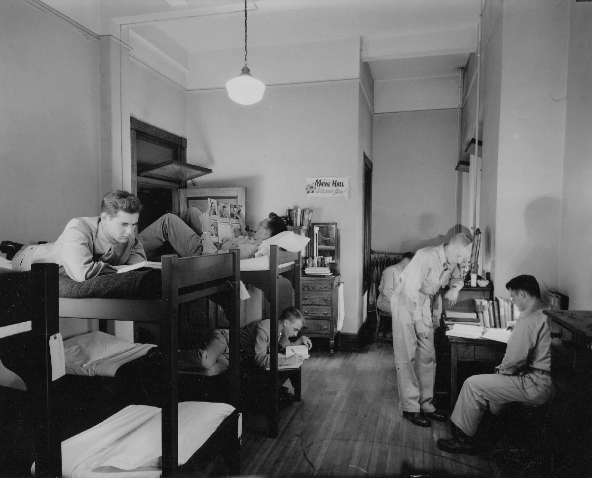 Army Specialist Training Corps Cadets In A Dorm Room In