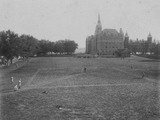 Baseball game on Georgetown University's athletic field