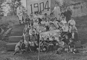 Georgetown College Class of 1904 getting ready to play a baseball game against the Class of 1905