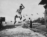 Robert L. LeGendre (C'1922, D'1927)  setting the world record for the broad jump at the 1924 Olympics in Paris