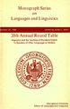 Cover for 20th Annual Round Table  Linguistics and the Teaching of Standard English  To Speakers of Other Languages or Dialects