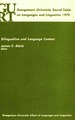 Cover for Bilingualism and Language Contact