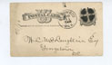 Cover for Postcard, 8/30/1883, to William L. McLaughlin (Georgetown) from JCI (Deadwood)