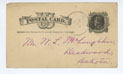 Cover for Postcard, 10/11/1884, to William (Deadwood) from A.C. Wright (Marlow, GA)