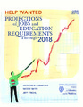Cover for Help Wanted: Projections of Jobs and Education Requirements Through 2018