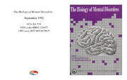 Cover for The Biology of Mental Disorders