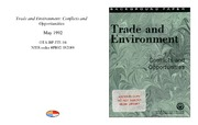 Cover for Trade and Environment: Conflicts and Opportunities
