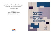 Cover for Aging Nuclear Power Plants: Managing Plant Life and Decommissioning