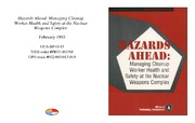 Cover for Hazards Ahead: Managing Cleanup Worker Health and Safety at the Nuclear Weapons Complex