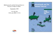 Cover for Multinationals and the National Interest: Playing by Different Rules