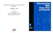 Cover for Pharmaceutical R&D: Costs, Risks, and Rewards