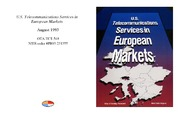 Cover for U.S. Telecommunications Services in European Markets