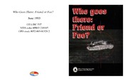 Cover for Who Goes There: Friend or Foe?