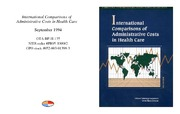 Cover for International Comparisons of Administrative Costs in Health Care