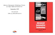 Cover for Advanced Automotive Technology: Visions of a Super-Efficient Family Car