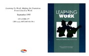 Cover for Learning To Work: Making the Transition From School to Work