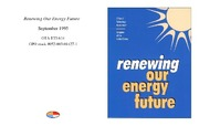 Cover for Renewing Our Energy Future