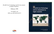 Cover for Health Care Technology and Its Assessment in Eight Countries