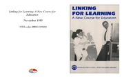Cover for Linking for Learning: A New Course for Education