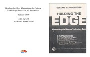 Cover for Holding the Edge: Maintaining the Defense Technology Base - Vol. II, Appendices