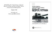 Cover for Rebuilding the Foundations: A Special Report on State and Local Public Works Financing and Management