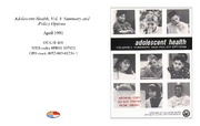 Cover for Adolescent Health, Vol. I: Summary and Policy Options