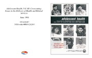 Cover for Adolescent Health, Vol. III: Crosscutting Issues in the Delivery of Health and Related Services