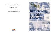 Cover for Biotechnology in a Global Economy