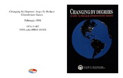 Cover for Changing by Degrees: Steps To Reduce Greenhouse Gases