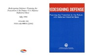 Cover for Redesigning Defense: Planning the Transition to the Future U.S. Defense Industrial Base