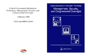 Cover for Federal Government Information Technology: Management, Security, and Congressional Oversight