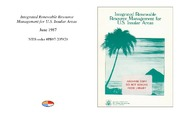 Cover for Integrated Renewable Resource Management for U.S. Insular Areas