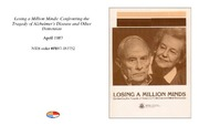 Cover for Losing a Million Minds: Confronting the Tragedy of Alzheimer's Disease and Other Dementias
