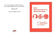 Cover for New Developments in Biotechnology: Ownership of Human Tissues and Cells