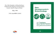 Cover for New Developments in Biotechnology: Field-Testing Engineered Organisms: Genetic and Ecological Issues