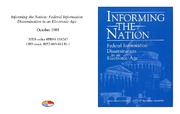 Cover for Informing the Nation: Federal Information Dissemination in an Electronic Age