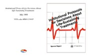 Cover for Institutional Protocols for Decisions About Life-Sustaining Treatments