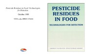 Cover for Pesticide Residues in Food: Technologies for Detection