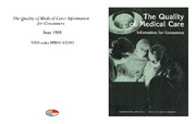 Cover for The Quality of Medical Care: Information for Consumers