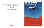 Cover for Safe Skies for Tomorrow: Aviation Safety in a Competitive Environment