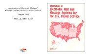 Cover for Implications of Electronic Mail and Message Systems for the U.S. Postal Service